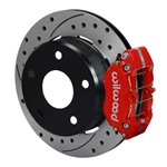 Wilwood Dynapro Lug Mount Rear Parking Brake Kit 74-75 Medium Duty Ford Bronco 15in Wheel Drilled Re
