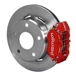 Wilwood Dynapro Lug Mount Rear Parking Brake Kit 74-75 Medium Duty Ford Bronco 15in Wheel Red