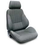 ProCar Rally Seat Grey Canvas w/ Sliders