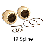 Mile Marker Chrome Supreme Locking Hubs with Black Dial for use with Dana 30/44 19 Spline