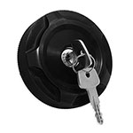 WH Billet Locking Fuel Cap Cover Black Anodized (each) For use with WH locking fuel caps