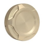 WH Billet Fuel Cap Cover Clear Anodized (each) For use with WH non-locking  2.75 OD caps