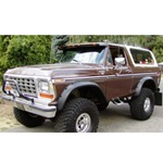 Bushwacker Cutout Fender Flares Set of 4 78-79 Bronco
