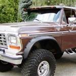 Bushwacker Front Cutout Fender Flares 78-79 Bronco