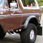 Bushwacker Rear Cutout Fender Flares 78-79 Bronco