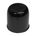4.25 Black Closed  Center Cap For Rear Wheels