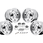 US Mags Indy Wheel Vintage Set of 4 Polished 17x9 Kit