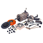 AX15 Deluxe Kit with Brand New Transmission and Twin Stick For use with J-Shift 73-77 Bronco Dana 20