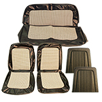 Houndstooth Seat Upholstery Cover Set White And Black