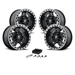 Fuel Anza Wheels Set of 4 17x8.5 Matte Black Kit