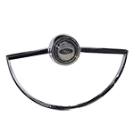 Steering Wheel Horn Button with Ring Chrome 66-74