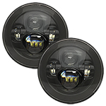 "WH Revolution 7"" LED Headlight Kit Black Finish"
