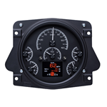 HDX Dakota Digital Dash Black Alloy 66-77 Bronco / 61-66 Pickup