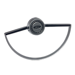 Steering Wheel Horn Button with Ring Satin 66-74