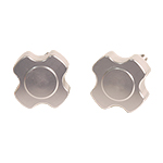 Billet Aluminum Windshield Knobs CLEAR (Pair)