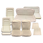 Seat Upholstery Set Front and Rear Parchment
