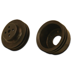 Black Hard Core Billet Crank &amp; Water Pump Pulley Kit 