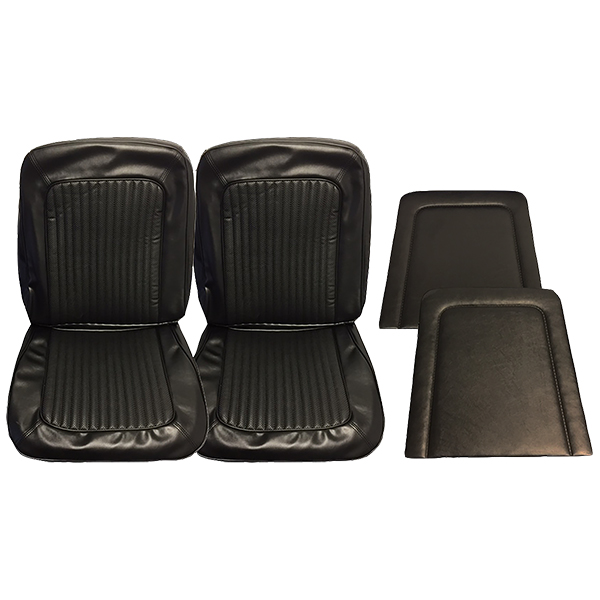 Front Seat Upholstery Cover Set Black
