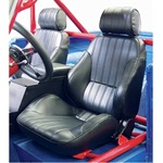 Procar Rally Seats PAIR Black Vinyl with Sliders