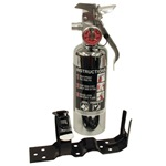 Halotron 1.4 lb. Chrome Fire Extinguisher 