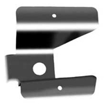 Stainless Steel Rear Reflector Bracket 70-77 w/ Tire Rack 
