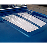 Aluminum Hood Louver Panel Pair