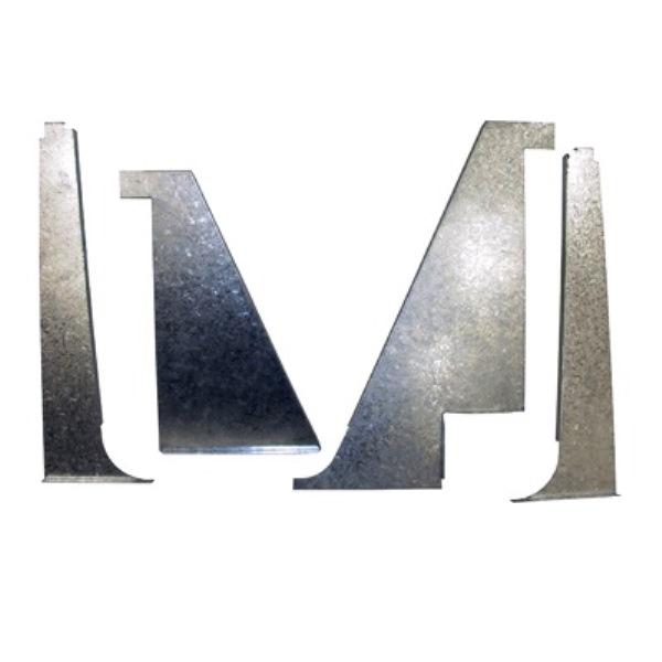 Door Insert Backing Plate Set w/Hardware