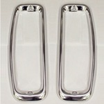 Tail Light Lens Bezel Polished Stainless Steel Pair