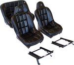 Corbeau Baja SS Seat Package-Fronts/36in Rear & All Brackets