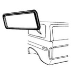 Side Window Seals 78-79 w/o groove for chrome - not for sliding windows
