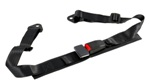 Corbeau 2in Lap Belt Black Bolt-In PAIR