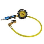 Power Tank Tire Inflator Gauge - HD 160 PSI Clip-on Chuck