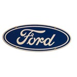 Ford Oval Sign 7x18 