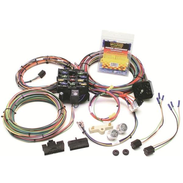 painless chassis wiring harness 12 circuit jeep 75 later wild painless 22 circuit jeep cj wiring harness 1976 1986