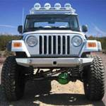Jeep TJ Rock Solid Front Bumper w/ Winch Mount & No PreBar