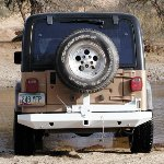 Jeep TJ Rock Solid Rear Bumper w/Tire Rack