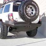Jeep WJ Rock Solid Rear Bumper w/ Skid Plate & Tire Rack