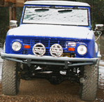 66-77 Guardian Flat Top Front Bumper w/ Winch Mounts