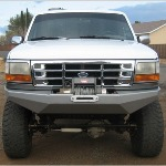 92-97 Rock Solid Front Bumper w/ Winch Mounts