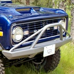 66-77 Rock Solid Front Bumper Non-Winch w/ Pre-Runner Bar 